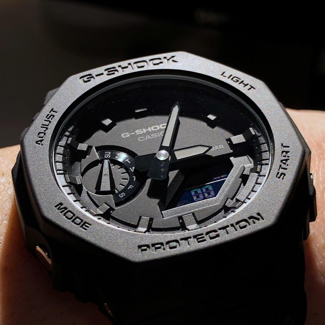 Review : Casio G SHOCK GA2100 1A1 Watch The Casioak Royal