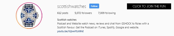Follow the Scottish Watches Instagram here