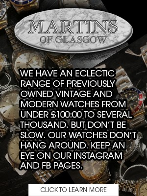 Drop Off or Send In Watch Repair and Service at Martins of Glasgow