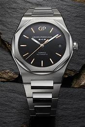Image result for gp laureato black onyx dial pink gold markers