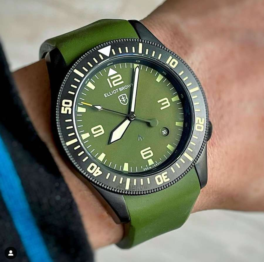 A person holding a watch Description automatically generated with low confidence