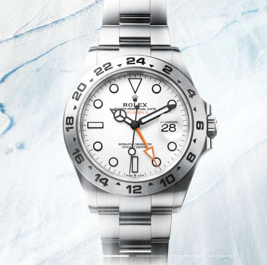 A picture containing watch, snow  Description automatically generated