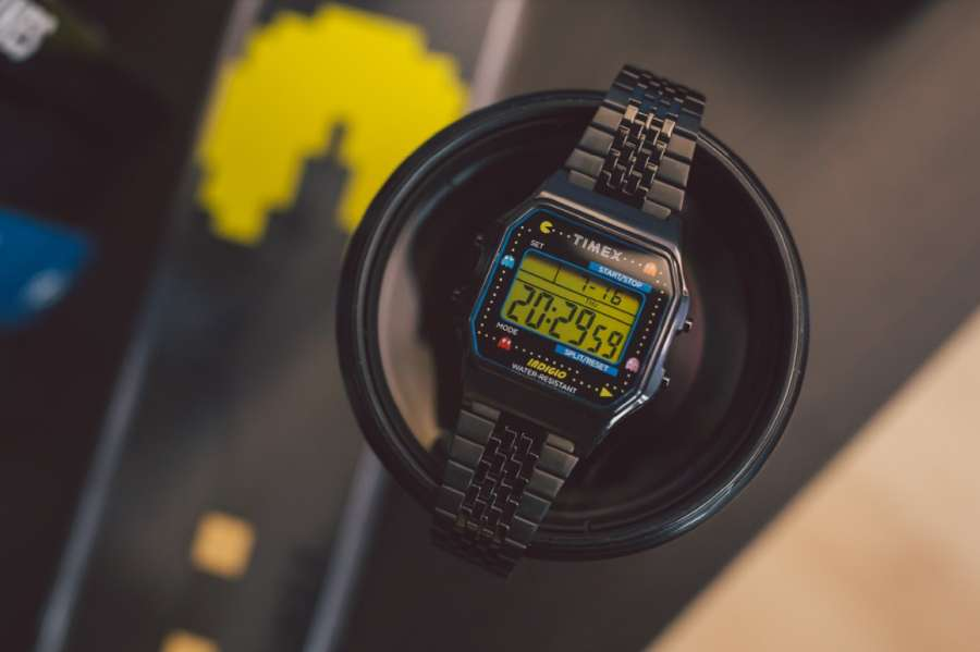 A watch on a wrist Description automatically generated with low confidence