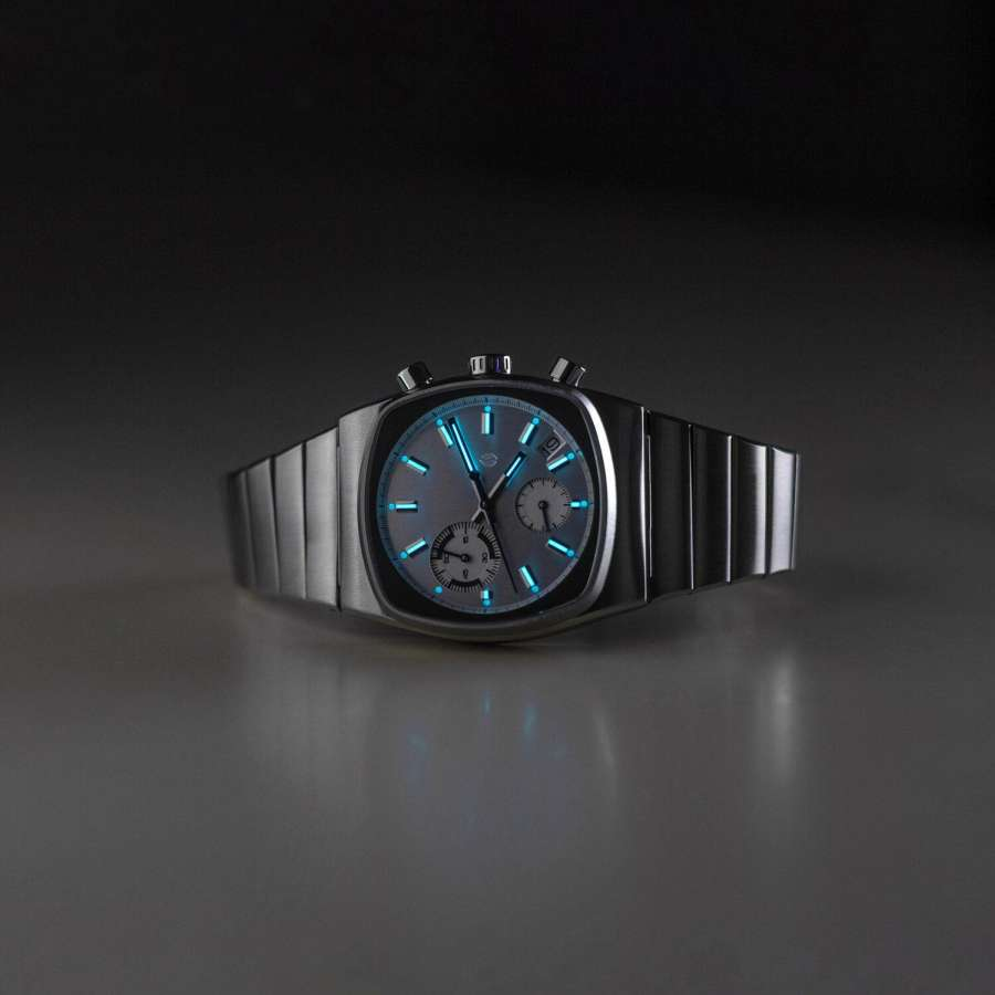 A picture containing watch, light Description automatically generated